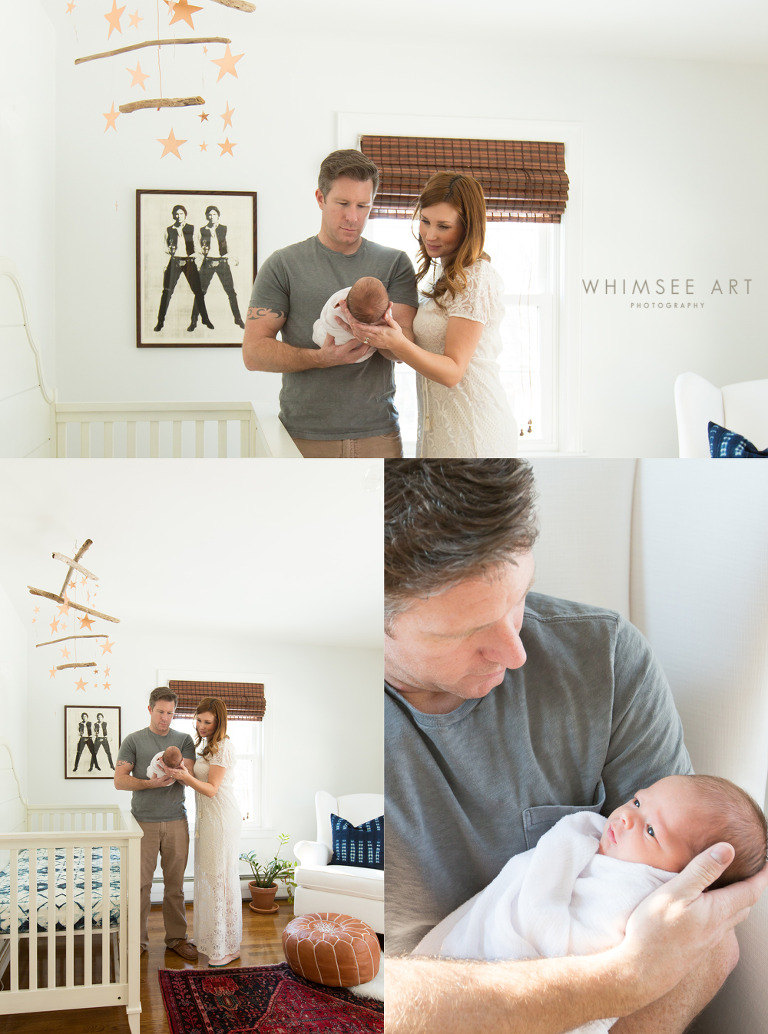 Modern Star Wars Nursery | Roanoke VA Newborn Photographer | Whimsee Art Photography | www.whimseeart.com