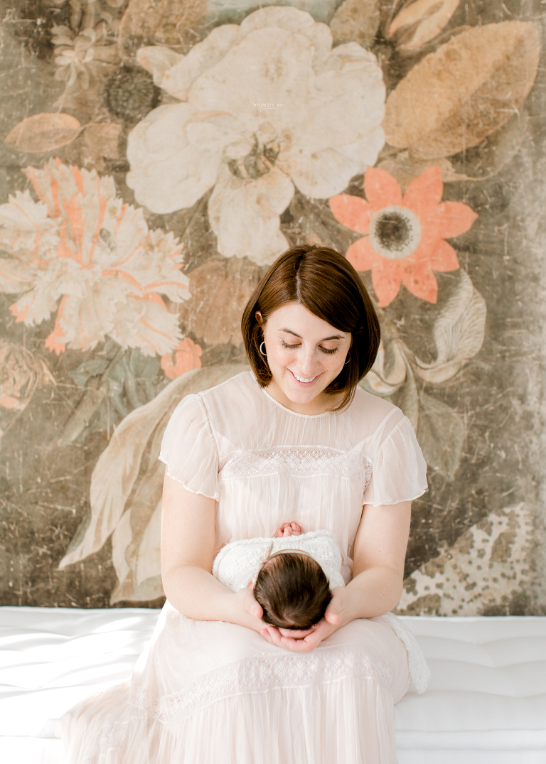 Sweet Anna and Family | Roanoke Newborn Session | Whimsee Art Photography